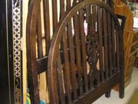 Antique twin bed with iron rails- $149.95 Call Pat or