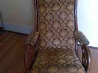 Antique upholstered rocking chair 30/40's, sturdy and