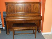 This is early 1900's Shoninger piano. Finish is in