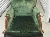 Beautiful large antique velvet chair. Great condition