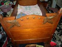 Wonderful Victorian Bed or Cradle that rocks and locks