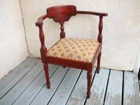 This dainty mahogany Victorian Corner Chair is quite