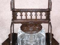 Up for sale is an Antique Victorian Inkwell in