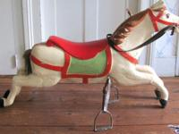 Beautiful authentic carved wooden repainted carousel