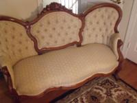 This beautiful, tufted back/ Victorian Love Sofa was