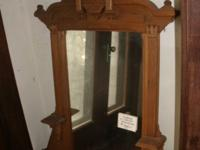 Large Victorian carved oak mirror c/a 1890's, in