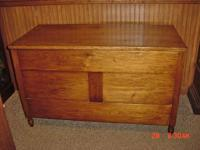 Vintage 1800's Large Very Blanket Chest Signed Family