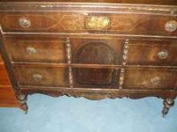 "Antique/Vintage 3 Drawer Dresser - measures 46"" wide x"