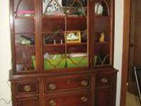 Old China hutch with glass doors in excellent