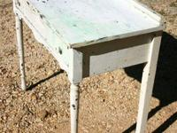 here is a vintage white distressed desk. This is the