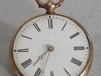 Antique Vintage Dent 18k Gold Pocket Watch 1880's Grand