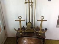 Hammered Copper and Brass Firewood Log Holder - $185