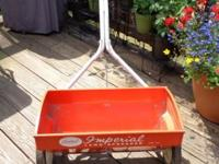 For sale I have antique Lawn Spreader, Imperial Model