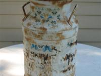 Antique/Vintage Milk Can Can has been painted and the