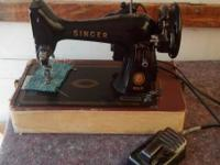 We Have A Nice Vintage Singer 99 Sewing Machine For