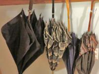 For Sale - 4 Vintage Umbrellas as is - Black one w/dark