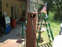Old visible gas pump . Comes with new acrylic cylinder.