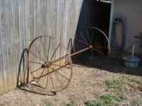 ANTIQUE WAGON WHEEL'S $150 No Email's I Spam Them