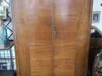 Beautiful antique walnut cedar-lined double door closet