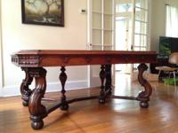 Beautiful antique walnut dining table