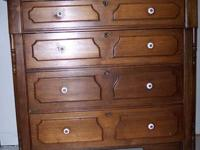 For Sale: Walnut antique dresser with handkerchief