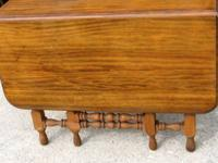 ANTIQUE WALNUT GATELEG DINING TABLE circa 1930's..21""