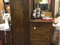 Antique Wardrobe, Two (2) Vanity Drawers/Three (3)