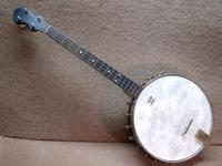 Beautiful little Washburn Style C tenor banjo with the