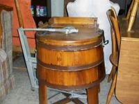 We simply got this antique barrel washer, Was $500 with