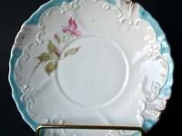 Antique Bone China hand painted Saucer, (footed, not