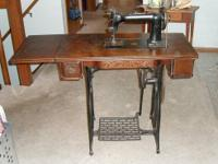 A Wheeler and Wilson Antique Treadle Sewing Machine