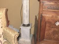 Wonderful Pair of White Fluted Marble Columns. Matched