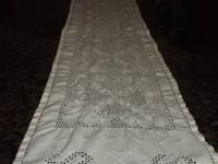Antique White Table Topper that is great condition for