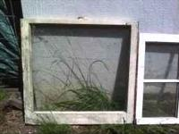 "Old fashioned antique windows 2- 6 pane 28""X25"" $30.00"
