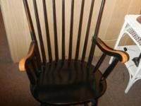 Antique Windsor Rocking Chair Rocker from the turn of