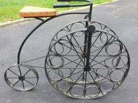 Very Unique Antique wrought iron Wine Rack Bike with