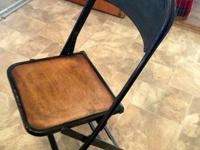 I have quite a number of these antique folding chairs.