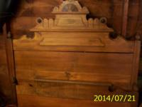 Antique 3/4 Wood Bed For Sale Looks like Oak Has been