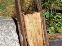 SALE ! An antique wood child's clipper sled with wooden