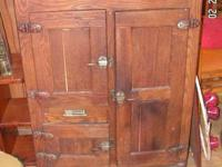 I have for sale for $600 a antique wood ice box with a