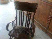I have for sale is a ANTIQUE WOOD ROCKER  . This rocker