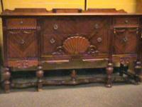Antique Wood Side Board Buffett    Get there 1st and