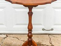 For Sale: Antique wood stand. It has a latch that