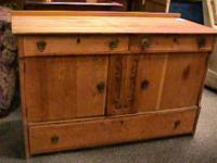 Antique Wood TV Cabinet Stand Buffett   Get there 1st