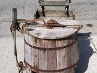 ANTIQUE WOOD CLEANING MACHINE  Back in the day this