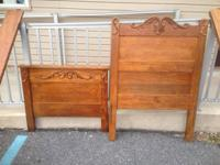 """Twin bed. Headboard Actions Approx. 33"""" vast and 46"""""""