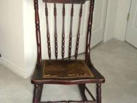 Lovely, old antique wooden rocking chair. Very good