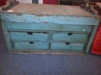 Lovely, Primitive old wooden device chest. This is a