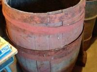 "Antique Wooden Water Barrel (21"" W x 34"" high) $70 Must"