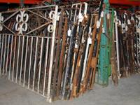 ANTIQUE VICTORIAN WROUGHT IRON GARDEN GATES. Sale